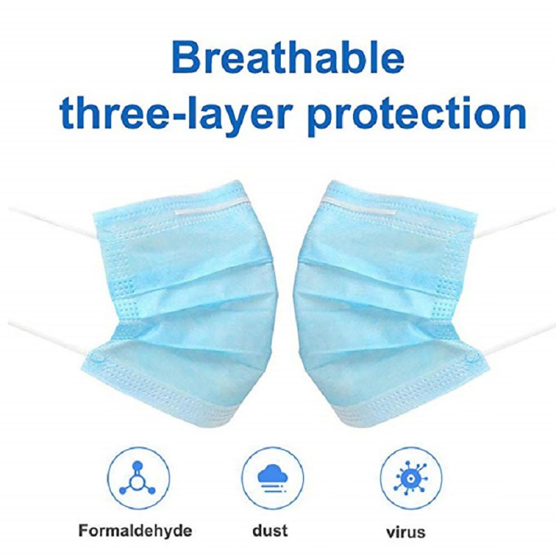 20 / 50 / 100pcs Adult Disposable Mask Three-layer Mask Dust-proof And Breathable High Quality Mask