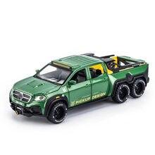 1/28 x-class exy 6x6 fora da estrada captador modelo de brinquedo carro liga morre elenco puxar para trás som luz brinquedos veículo para presentes