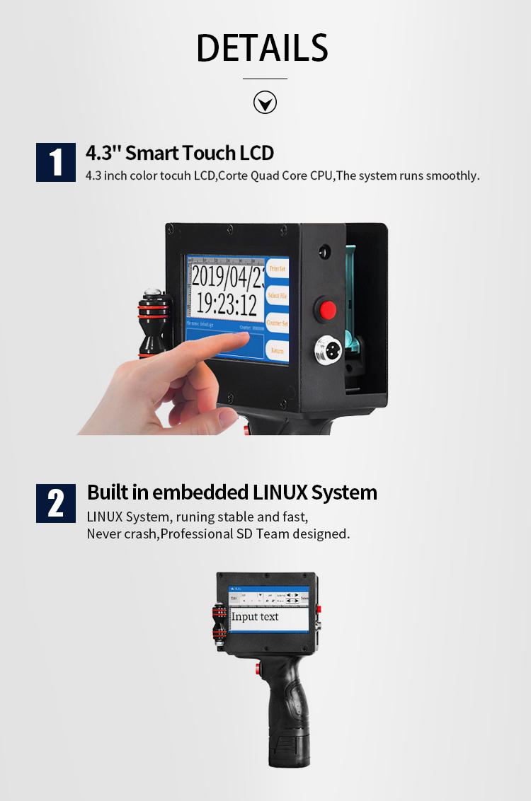 Industry expiry date code bottle inkjet printer large character hand jet printer Portable vertical wall inkjet printer