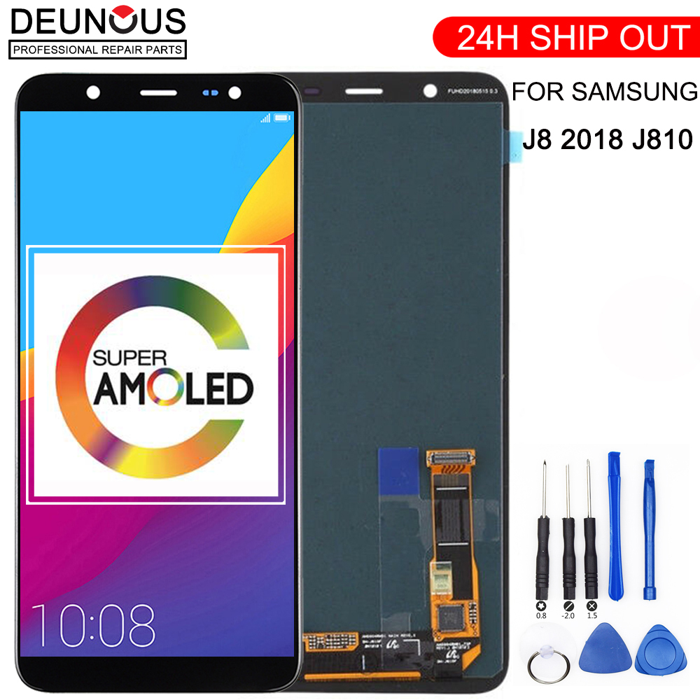 SUPER AMOLED 6.0'' <font><b>LCD</b></font> for <font><b>SAMSUNG</b></font> Galaxy <font><b>J8</b></font> <font><b>2018</b></font> Display Touch Screen Replacement For Galaxy J810 J810F SM-J810F <font><b>LCD</b></font> Display image