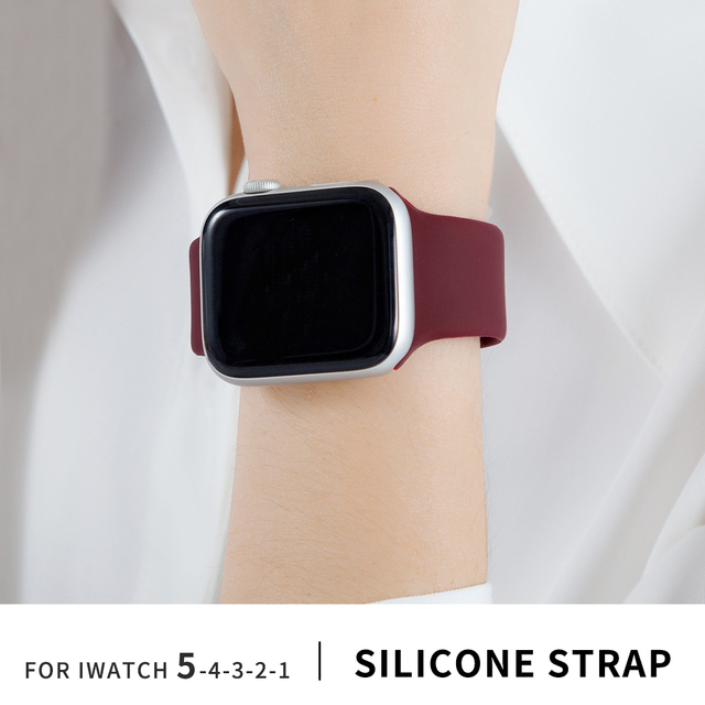 Soft Silicone Replacement Sport Band For 38mm Apple Watch Series1 2 3 4 5 42mm Wrist Bracelet Strap For iWatch Sports Edition 1