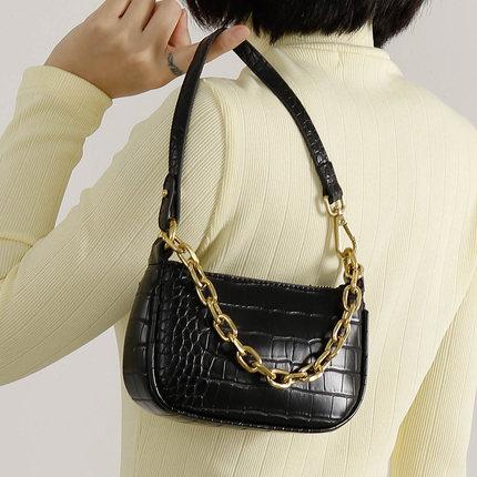 Designer Casual Women'S Solid Color Handbags Crocodile Pattern Ladies Designer Shoulder Bags Retro Female Purses Messenger Bags