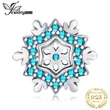JewelryPalace Snowflake 925 Sterling Silver Beads Charms Silver 925 Original For Bracelet Silver 925 original For Jewelry Making best quality luxuxious and nice silver jewelry gift noble purple silver charm series 925 real silver snowflake charms bracelet