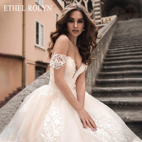 ETHEL ROLYN A Line Wedding Dress 2020 Elegant Sweetheart Backless Appliques Princess Bride Gowns Customized Vestido De Noiva