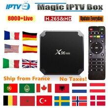 iptv france x96 mini smart android tv box 9000 live 1 year f