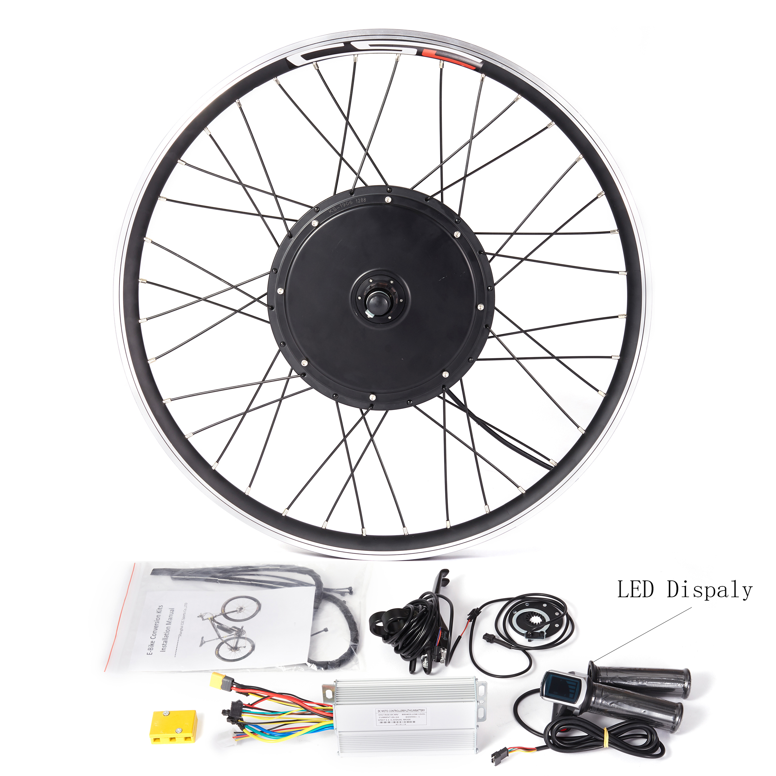 Ebike Motor Wheel Conversion Kit 20 26 48V 1000W 1500W Electric Snow Fat Bicycle