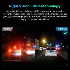 Image 3 - Junsun S590.P 24h park monitörü 4K WiFi GPS araba dvr Dash kamera 2160P gece görüş çift Lens araç kaydedici 1080P arka kamera