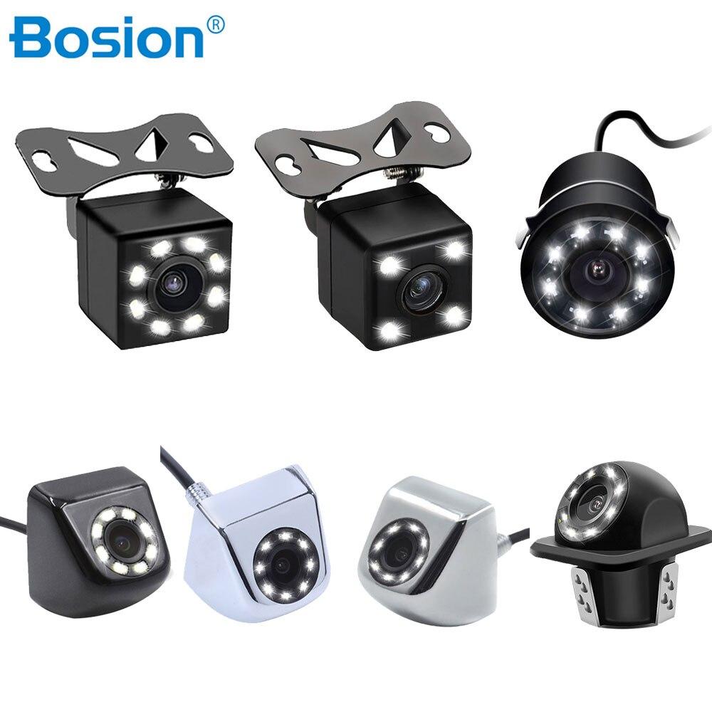 Bosion Waterproof Car Rear View Camera HD Camera Distance Scale Auto Parking Backup Reverse Camera Universal 8 LED 170 Degree