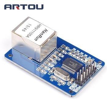 ENC28J60 Ethernet LAN Network Board Module chematic SD Card Module Socket Reader enc28j60 ethernet board controller connect mcu to ethernet network spi serial interface board module