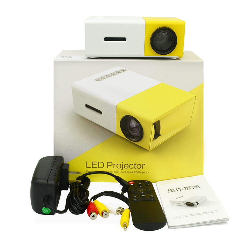 <font><b>Yg300</b></font> Led Projector Yellow 600 Lumen 3.5mm Audio 320x240 Pixels <font><b>Yg</b></font>-<font><b>300</b></font> Hdmi Usb Mini Projector Home Media Player Easy To Carry image