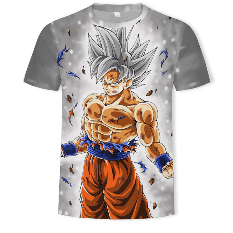 Cartoon Dragon Ball Art 3D Summer Anime Short Sleeve O-neck Top Tees Plus Size S-5XL Streetwear Casual Fashion Men Funny T Shirt
