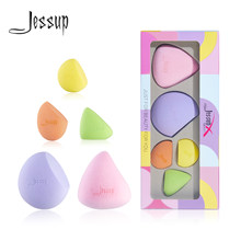 Jessup Cosmetische Puff Foundation Poeder Make-Up Spons 5Pcs Zacht Glad Gezicht Mengen Concealer Make Up Bladerdeeg Vrouwen Beauty Tool
