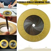 Rotatable Circle Drawing Tools DIY Woodworking Round Drawing Tool Stainless Steel Measurement Gauges Ruler School Office Supples