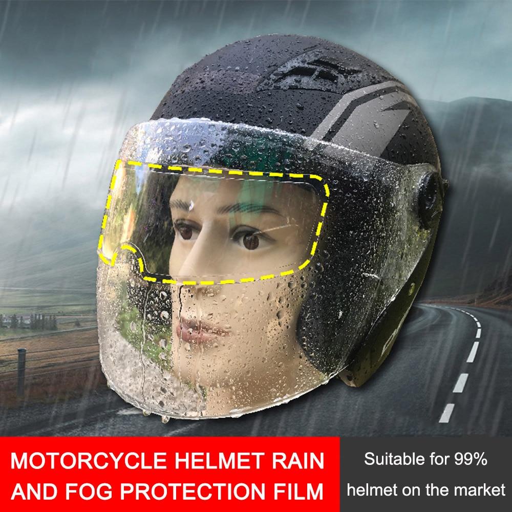 Helmet Anti Fog Film Motorcycle Helmet Waterproof Lens Film, Universal Rain and Fog Protection Film, Transparent Lens Sticker