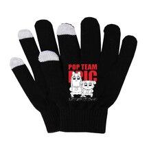 Anime Pop Team Epic Gloves Unisex Finger Cotton Warm Gloves Mobile Phone
