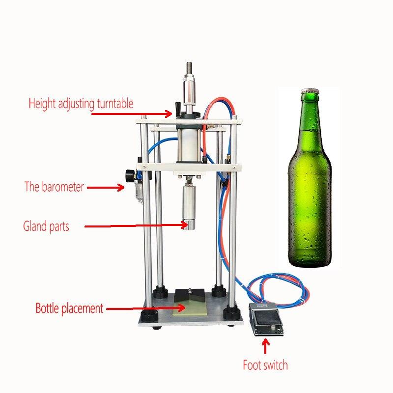 Tappatrice pneumatica per bottiglie di birra tappatrice per tappi a corona tappatrice per bottiglie di Soda