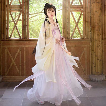 Women Chinese Traditional Tang Dynasty Princess Clothing Oriental Hanfu Clothing National Chinese Folk Dance Stage Dress DWY2332