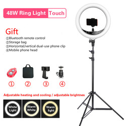 BEIYANG 240C 14 Dimmable Photography light Led Ring Light 3-color 3200-5600K 240 led Ring Lamp For Camera Phone Photo Studio