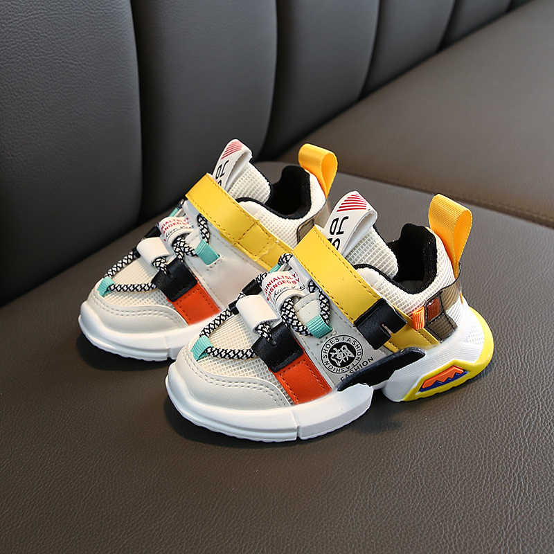 Kids Sneakers Autumn Children Sports Shoes Boys Girls Fashion Mixed Color Children's Casual Shoes Lightweight Breathable SJ007