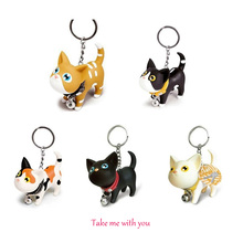 Fashion Cute Cartoon Cat Keychain Kitten Bag Car Pendant Key Chain Creative Jewelry Gift
