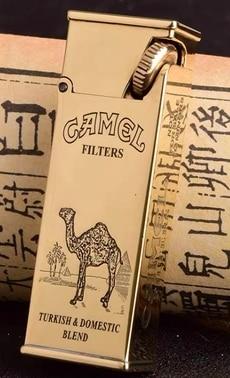 Sideslip Oblique Rrubbing Handmade Brass Camel Antique Kerosene Lighter3