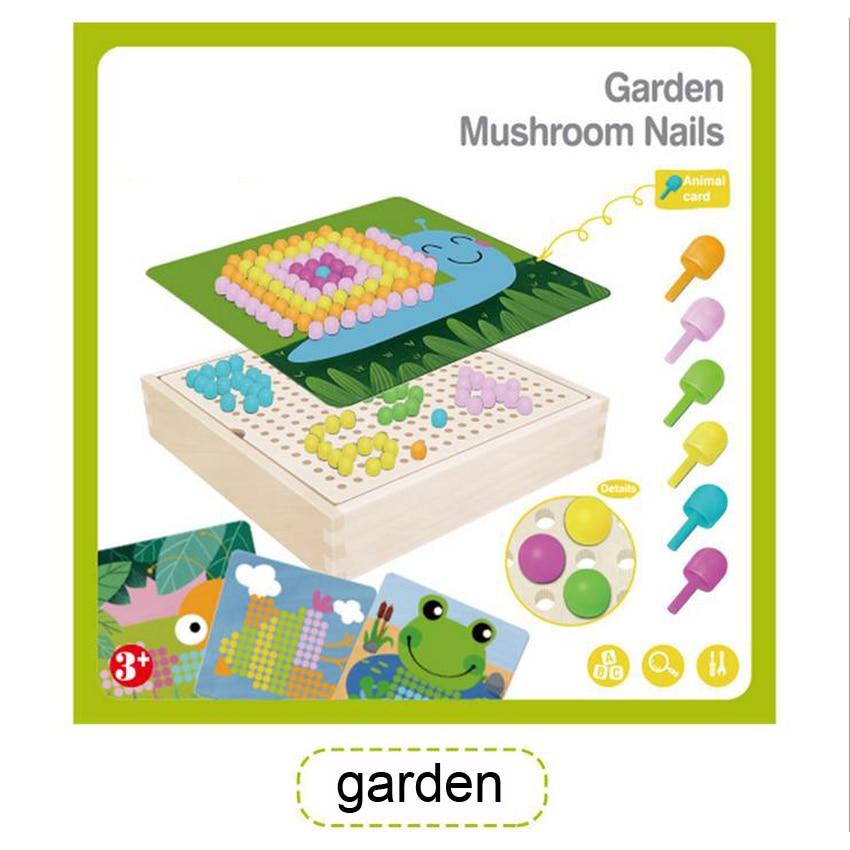 Wonderbaarlijk DOLLRYGA Children Educational Wooden Toys Creative Mosaic Mushroom HY-79