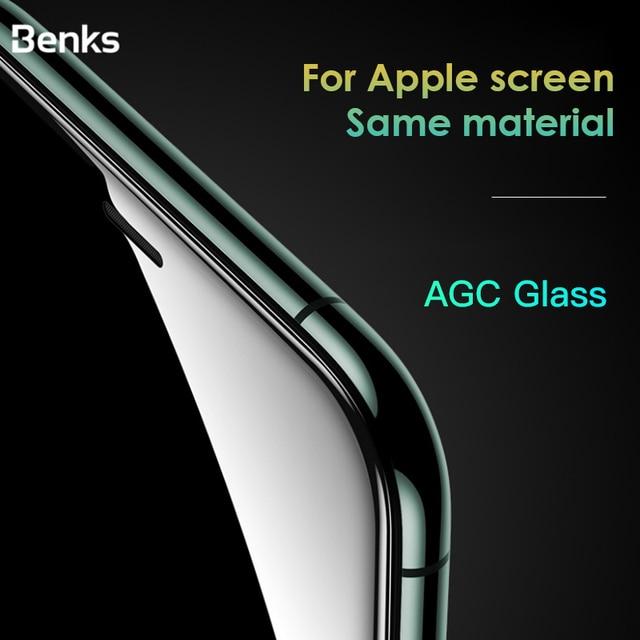 Benks XPRO 3D מעוקל קצה מלא כיסוי מגן מזג זכוכית עבור iPhone 11 פרו MAX XR X XS 0.4mm מסך מגן זכוכית סרט