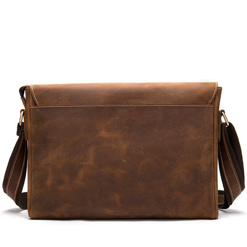 WESTAL maletines para hombres, bolso para ordenador portátil, bolsos de oficina, bolsas de mensajero para hombres, maletines de cuero Crazy Horse, bolso de negocios - 3