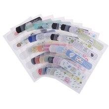 2/4 folhas à prova dwaterproof água dos desenhos animados crianças bandagem adesiva bandagem ferida cinta suporte kits de gesso primeiros socorros emergência cuidados com a pele