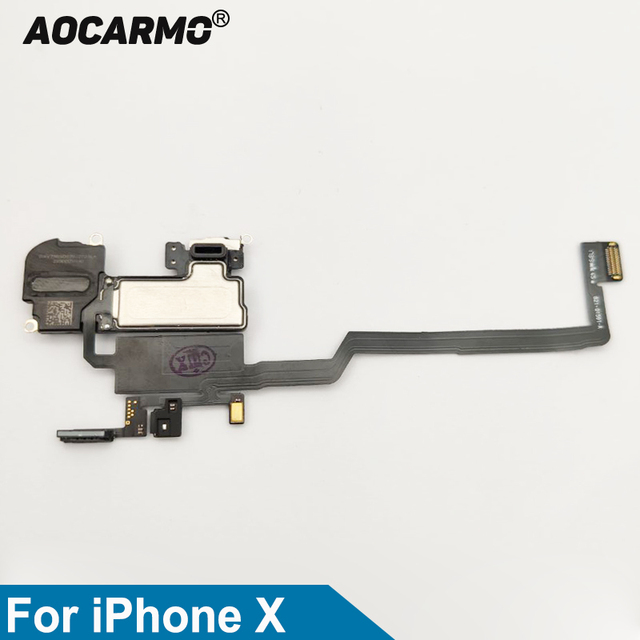 Aocarmo Top Earpiece Ear Speaker With Proximity Light Sensor Flex Cable For iPhone X 10 Replacement Part