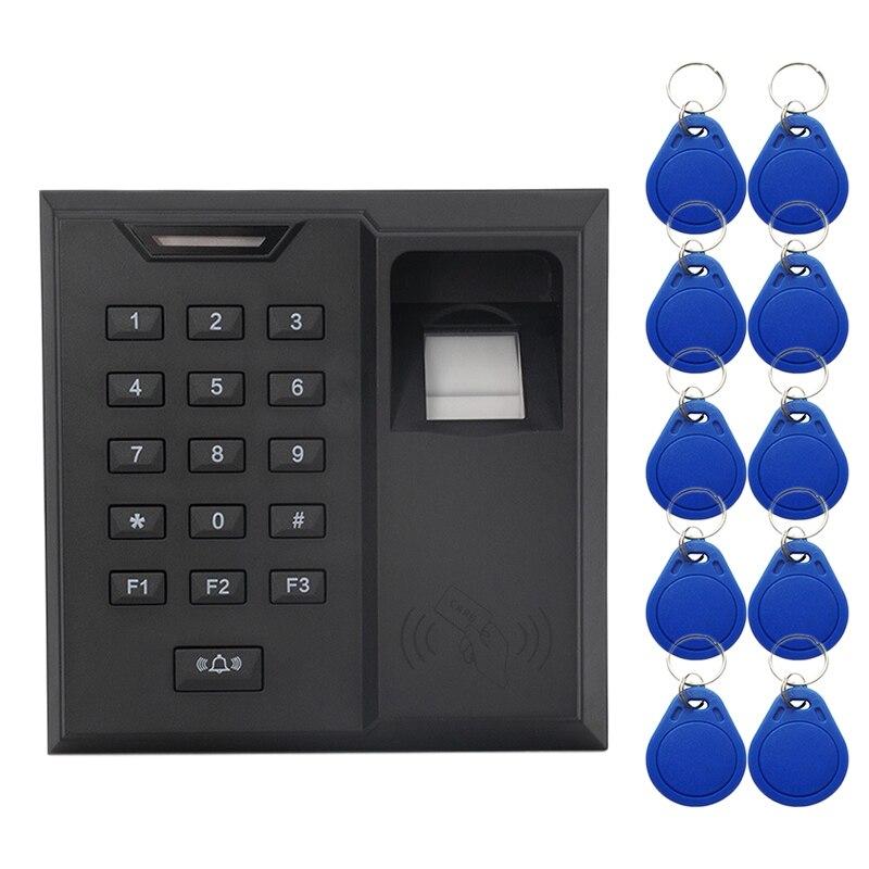 Parmak izi giriş kontrol sistemi anahtar kartı okuyucu güvenlik kapısı çan kapı erişim kontrol makinesi title=