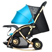 عربة أطفال أربع جولات كبيرة ومريحة يمكن طيها الجلوس والاستلقاء متعددة الوظائف امتصاص الصدمات أمي المفضلة-في عربة بأربع عجلات من الأمهات والأطفال على