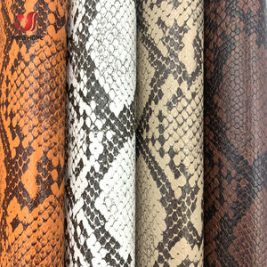 Snakeskin Pattern Faux PU Leather Sewing Fabric Waterproof Synthetic Vinyl For Bag Sofa Earring DIY Craft Brooch Hair Bows Sheet