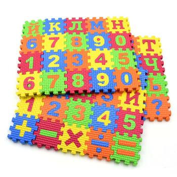 60 unids/set alfombra alfabeto ruso bebé niños juguete educativo esterilla de aprendizaje preescolar