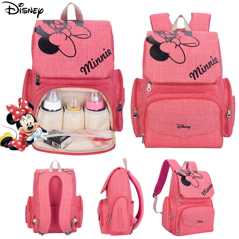 Disney Cartoon Diaper Bag Backpack Stroller Bag Travel Maternity Nappy Bag Large Capacity Nursing Bag For Baby Care Free Hook