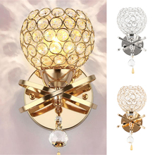 Crystal Wall Lamp Simple and Creative Bedroom Bedside Wall Lamp Home Lighting Living Room Crystal Lamp