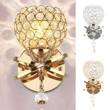 Lampe murale en cristal Simple et créative, éclairage de chevet pour chambre à coucher, salon