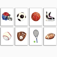 Ball Sport Basketball rugby Football skate Wall Art Canvas Painting Nordic Posters And Prints Pictures For Baby Kids Room