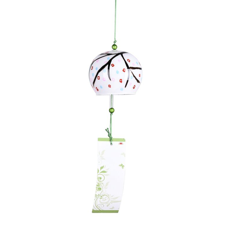 Well-printed Japanese Style Hanging Ornament Home Decor Glass Wind Bell 3#