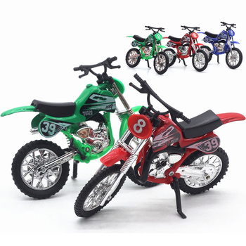 1:18 Alloy Car Model Motocross Simulation Model Toy Simulation Sound and Light Toys for Children Model Decoration image
