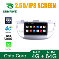 Octa Core 1024*600 Android 10.0 Car DVD GPS Navigation Player Deckless Car Stereo for Hyundai TUCSON 2015 2018 Radio