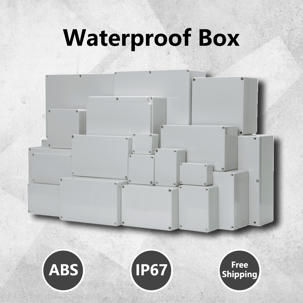 ABS Wire Junction Box Waterproof Electronic Safe Case Plastic Boxes Plastic Organizer IP67 Waterproof Enclosure Box