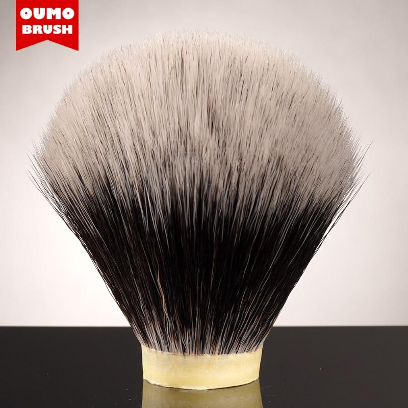 Oumo escova-imite o melhor nó de cabelo sintético de duas bandas de barbear escova nó