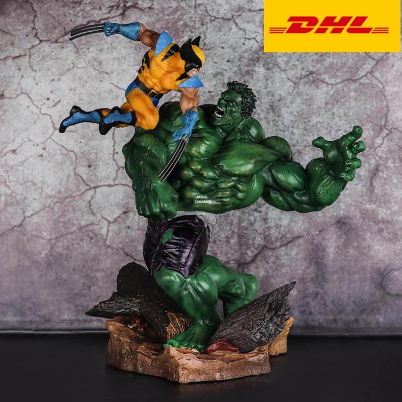 "12"" The Avengers Statue Hulk Campaign Wolverine Bust Creative Full-Length Portrait Art Craft PVC Action Figure Toy BOX 31CM V848"