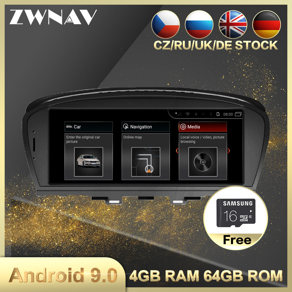 4G+64G Android 9.0 Car Multimedia Player GPS Navi For BMW 7er E65 E66 2001-2008 Car Auto Radio Stereo Head Unit Wifi BT Free Map