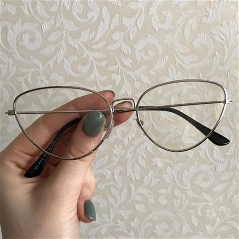 NYWOOH de ojo de gato gafas de mujeres marco de metal para gafas hombres Retro Transparente óptico gafas Unisex