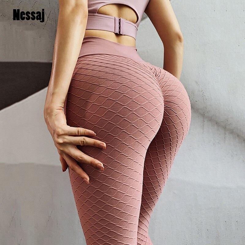 Nessaj Women Fitness Leggings Sexy Sport Long Pants Push Up Skinny Gym Exercise High Waist Fitness Running Athletic Trousers