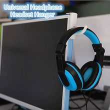 Hitam Headphone Stand Universal Headphone Headset Gantungan Kait Dinding PC Monitor Earphone Dudukan Rak Rak Meja Organizer(China)
