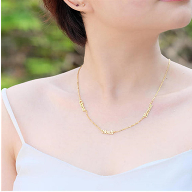 Islam Jewelry Personalized Font Pendant Necklaces Stainless Steel Gold Chain Custom Arabic Urdu Name Necklace Women Bridesmaid