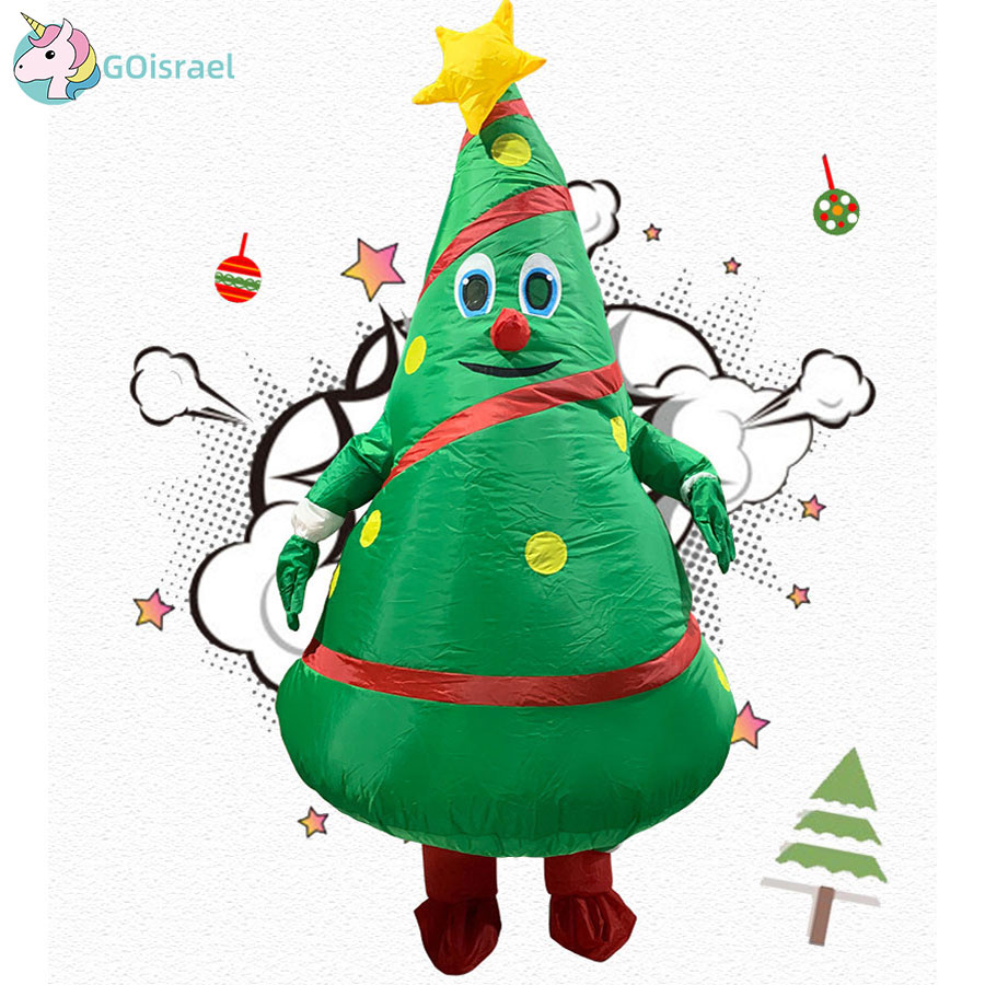 Christmas Cartoon Doll Costume Inflatable Santa Claus Dress Up Props Funny Funny Inflatable Christmas Tree Clothes